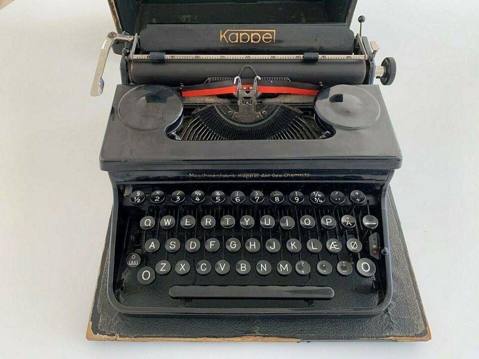 Skrivemaskine Kappe