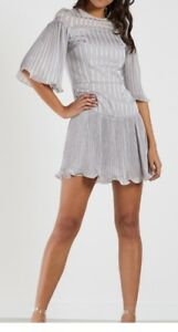 Talulah-Dove-Grey-Stand-Alone-Mini-Dress-Size-Small-Brand-New-W-Tags-RRP-240