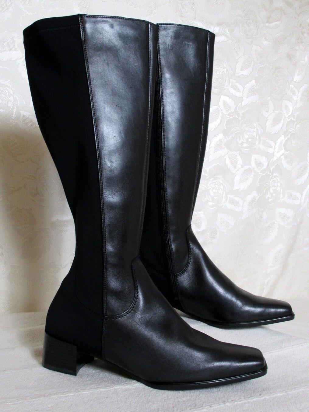 Weitschaft Leder Stiefel Größe 37 DORNDORF Schwarz