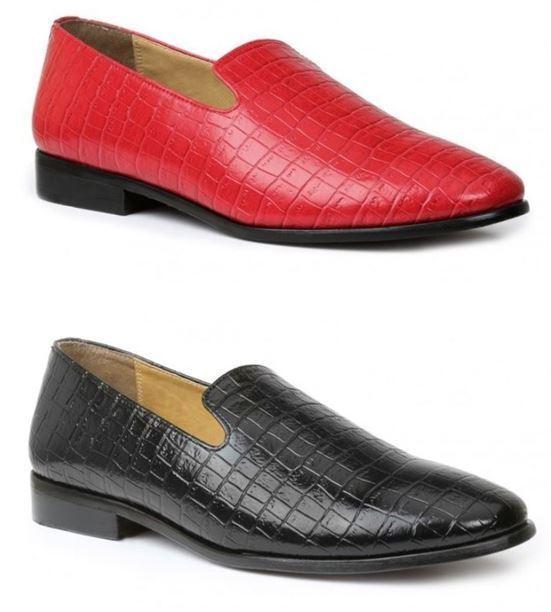 Nueva marca Giorgio Brutini Para hombre Zapatos Heed Cocodrilo impresión Slip On