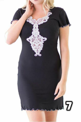 Moniq Handmade Satin Nightdress Women Ladies Floral Soft Nightwear Nightie