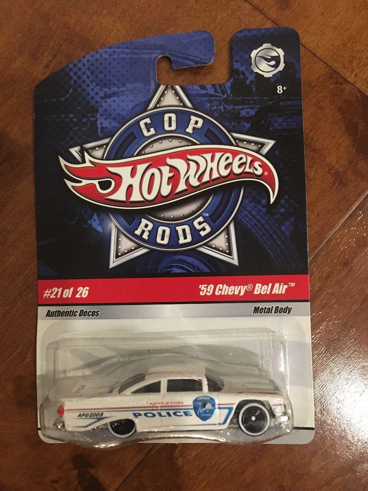 Hot Wheels Cop Rods of 26 '59 Chevy Bel Air (VHTF) MINT