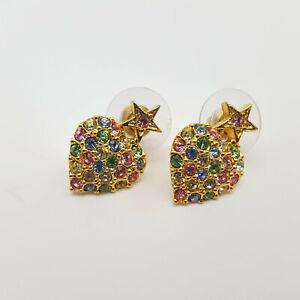 Kirks-Folly-Pastel-Rhinestone-Hearts-amp-Stars-Earrings