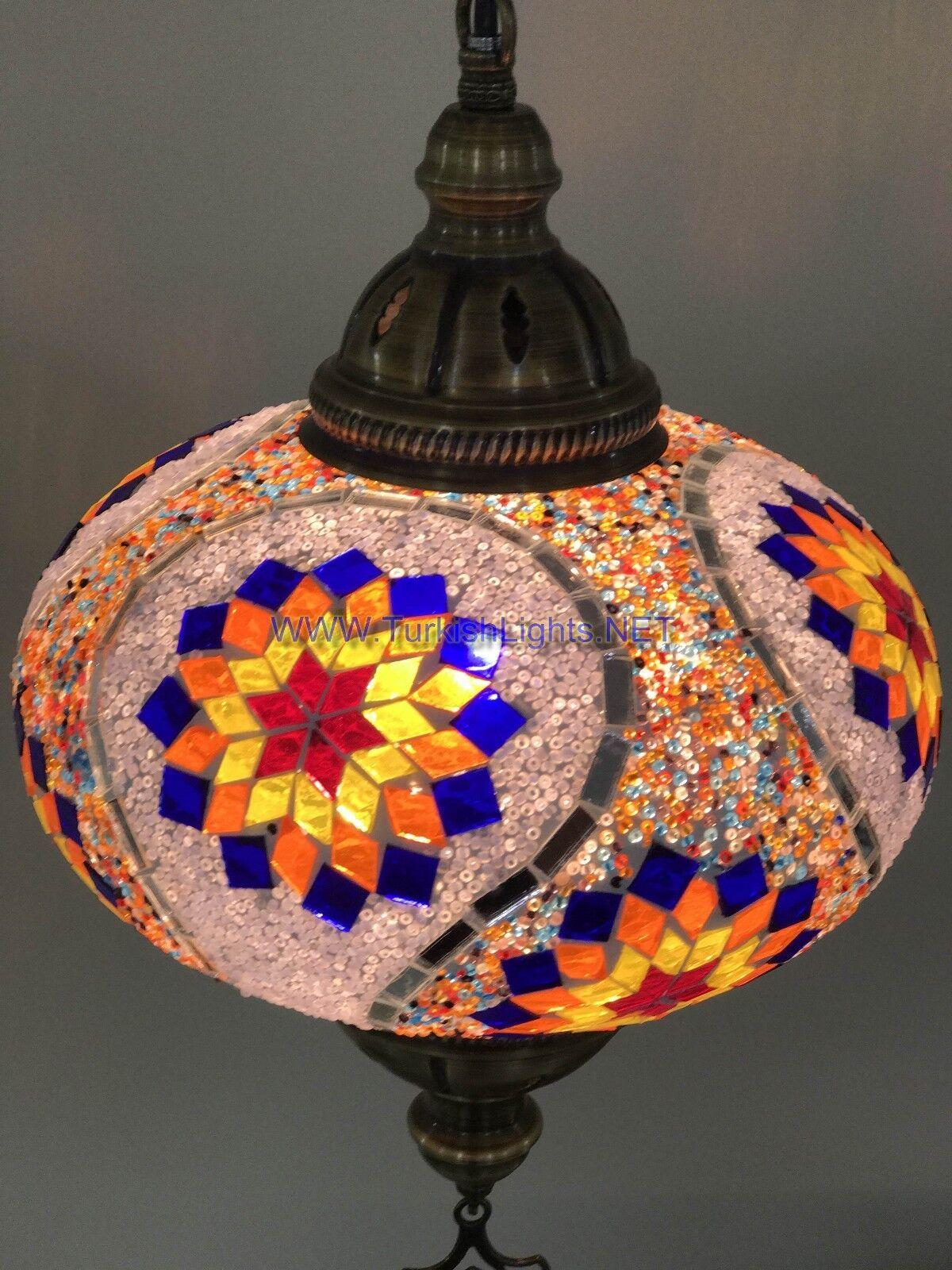 Turque Handmade Lampe Mosaïque pendant Lampe Handmade Extra Large Globe (No5 Globe) 9e7603