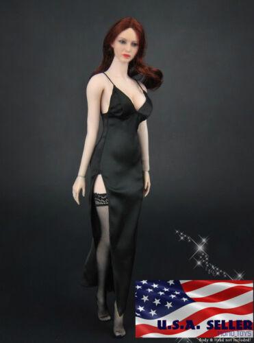 "1//6 V profond robe longue avec les bas à 12/"" Figurine Phicen Hot Toys KUMIK ❶ USA ❶"