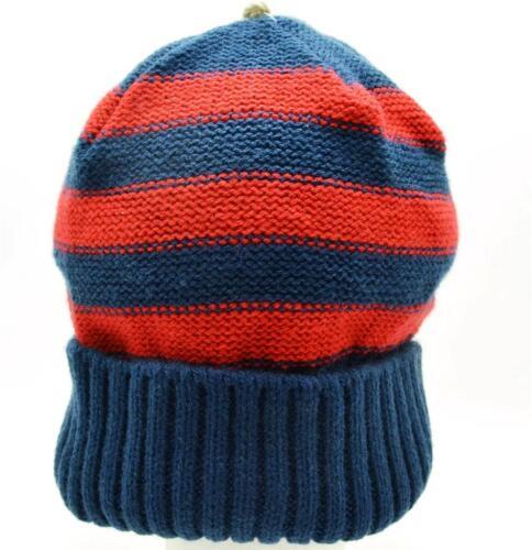 Winter Urban Pipeline Men Women Beanie Blue Red Stripe Long Knit Hat Head 0072