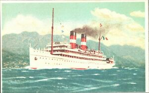 CARTOLINA-PUBBLICITARIA-CROCIERA-TURBONAVE-034-STELLA-D-039-ITALIA-034-1928-Riprod