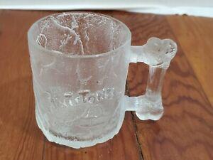 Flinstone's RocDonald's Collectible Glass Cup 1993 McDonalds Bone Handle