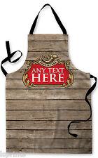 Personalizzata Birra Etichetta Legno Effetto Design Grembiule Barbecue Cucina cucina pittura