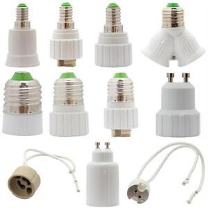 lampensockel adapter leuchtmittel fassung socket led e14 e27 g9 gu10 mr16 kabel ebay. Black Bedroom Furniture Sets. Home Design Ideas