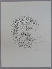 Gustav Seitz Pariser Student Lithographie 1960 handsigniert