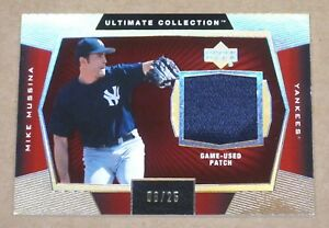 2003-Ultimate-Collection-Game-Patch-Gold-Mike-Mussina-JERSEY-PATCH-Card-SP-25