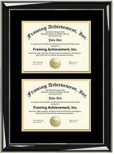 3811e60d175 Image is loading Double-Custom-Diploma-Frames-Certificate-Frame-Double- Degree-
