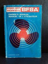 HONDA BF8A OUTBOARD MOTOR OWNERS HANDBOOK INSTRUCTION MANUAL MULTILINGUAL
