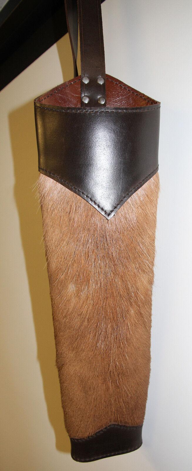 Impala Piel Cuero posterior quiver traditional Archery