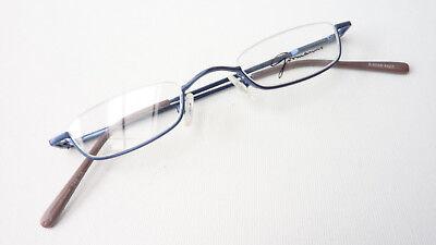 Occhiali Montatura Sottile Forma Vetro Blu Nahbrille Senza Bordo Superiore Leggermente Misura S-mostra Il Titolo Originale Profitto Piccolo