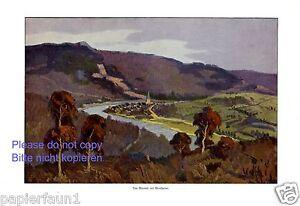 Das-Maastal-mit-Montherme-Kunstdruck-1916-Frankreich-Montherme-Champagne-Ardenne