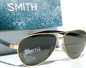 eb9668c273 Image is loading NEW-SMITH-Salute-Matte-GOLD-59mm-AVIATOR-POLARIZED-