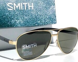 24cbe190cd Image is loading NEW-SMITH-Salute-Matte-GOLD-59mm-AVIATOR-POLARIZED-