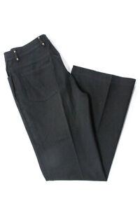 St-John-Sport-Womens-Wide-Leg-Jeans-Navy-Blue-Gold-Size-6