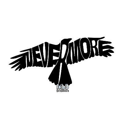 RAVEN In Flight vinyl sticker WICCAN DRUID Poe CROW Car Truck Window Nevermore