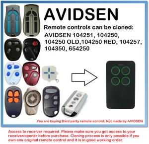 AVIDSEN 104251- 104250- 104257- 104350- 654250 Remote Control Duplicator-afficher le titre d`origine E98wpA6E-07141237-424745146