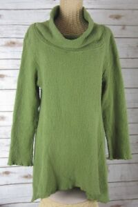 Click-CMC-Color-Me-Cotton-Womens-S-Olive-Green-Textured-Cotton-Lagenlook-Tunic