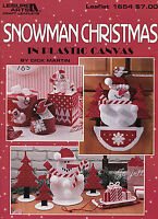 Snowman Christmas Snow Decor Ornaments Tissue & More Plastic Canvas Patterns