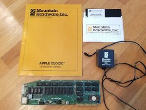 Vintage-1978-Mountain-Hardware-APPLE-CLOCK-Board-9V-Battery-Manual-amp-disc-RARE