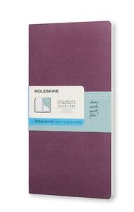 """Dotted Soft Cover Slim Pocket 3x5/"""" Single Brown Moleskine Chapters Journal"""