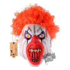 Latex Halloween Overhead Red Hair Clown Mask Party Scary Adult Creepy Dress