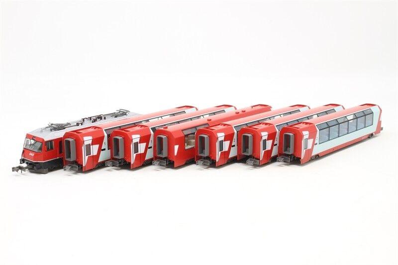 Kato Kato Kato 10-1145 + 10-1146 Swiss Alps Glacier Express 7 Cars Complete Set - N 001a16