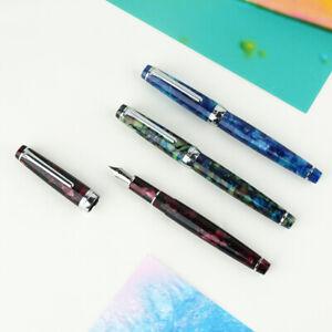 Moonman-Delike-New-Moon-Resin-Fountain-Pen-EF-F-Bent-Nib-Ink-Pen-Gift-Box