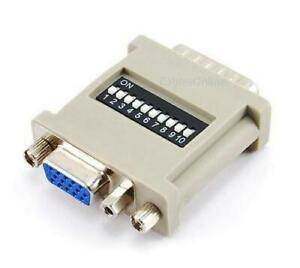 HD15-VGA-Monitor-Female-to-DB15-MAC-Male-Converter-Adapter-w-Dip-Switches