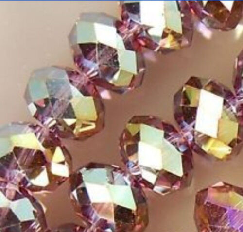 300PCS Wholesale 27 colors 4x6mm Crystal Faceted Roundel Loose Beads Gems 5040