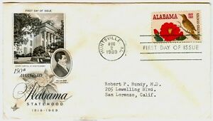 Philippine-1969-150th-Anniversary-of-ALABAMA-Statehood-FIRST-DAY-COVER
