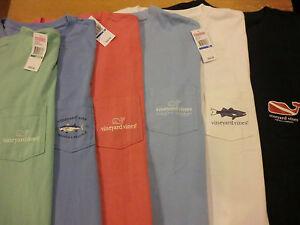 Vineyard Vines Mens Pocket T Shirt Nwt U Pick Whale