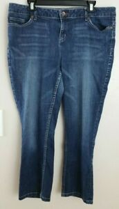 Simply-Vera-Wang-Cropped-Straight-Leg-Jeans-size-16