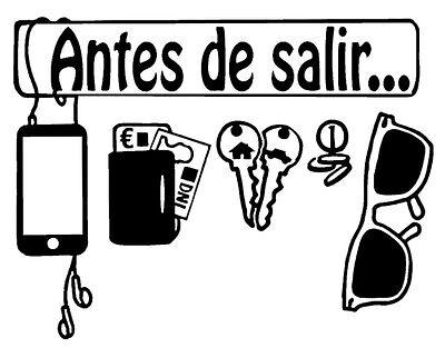 VINILO OUTLET 30x23 DECORATIVO PARED PUERTA RECORDATORIO -ANTES DE SALIR...-