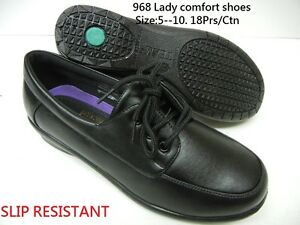 Slip-Resistant-Women-Soft-Comfy-Walking-Work-Shoes-PU-Leather-Lace-Up-TM968