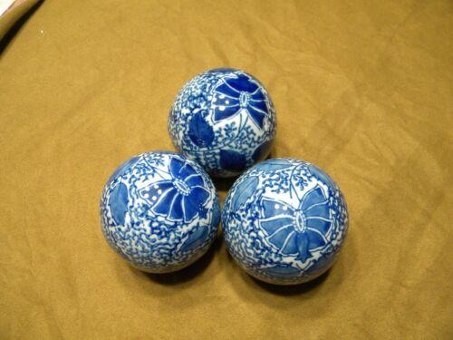 "Details about  /VTG  Blue /& White Porcelain Ceramic Carpet Ball Home Decor  3/"""