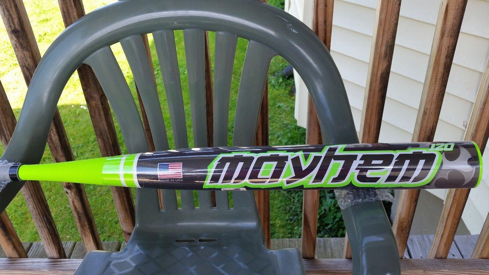 NIW Worth Mayhem 120 SBMXLU (28oz) D2E Sports Slow Pitch Softball Bat