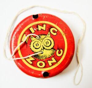 Vintage-Tin-Litho-ZING-ZONG-Owl-Whistle-Toy
