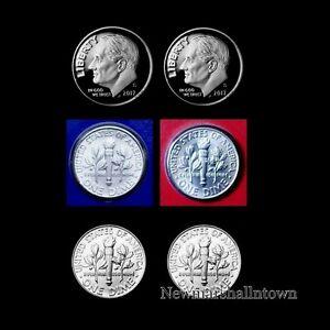 2014 P+D+S+S Roosevelt Dime Silver /& Clad Proof Mint Set ~ PD in Mint Wrap