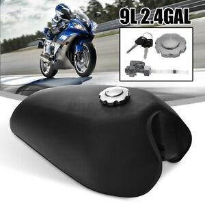Motorcycle 9L Universal Matte Black Fuel Gas Tank Key Set For Honda CG125