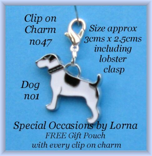 Clip-on-Charm dog Bracelet Pendant Purse Zipper Pull