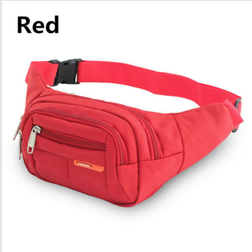 Women Men Fanny Pack Waist Belt Bum Bag Pouch Hip Purse Sports Travel Chest Bag