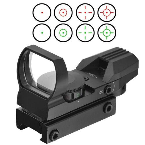1MOA Green Red Dot Reflex Sight Holographi 4 Reticules Rifle Rail Sight Scope