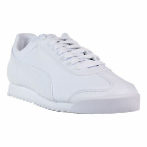 da378febc662 Puma Men s Roma Basic Shoes White Light Grey 353572-21