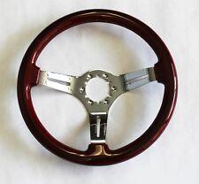 """Corvette Red Mahogany Steering Wheel 14"""" Direct Bolt on Telescopic Tilt column"""
